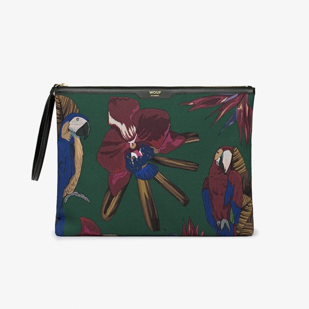 Wouf - Tropical Night - Canvas night clutch