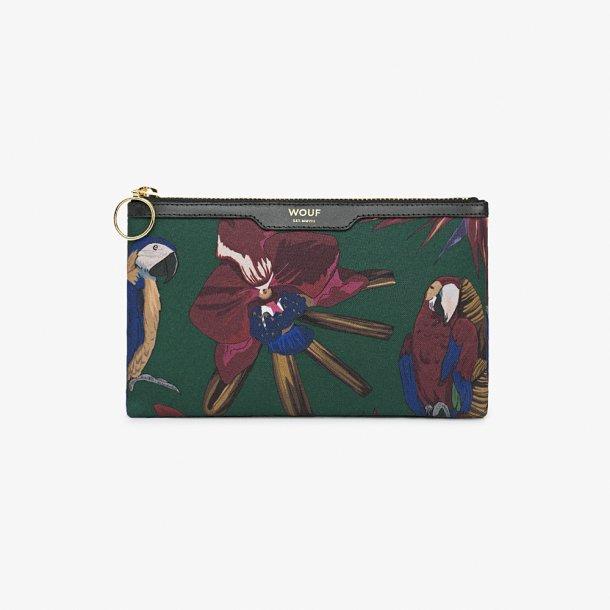 Wouf - Tropical Night - Canvas pocket clutch