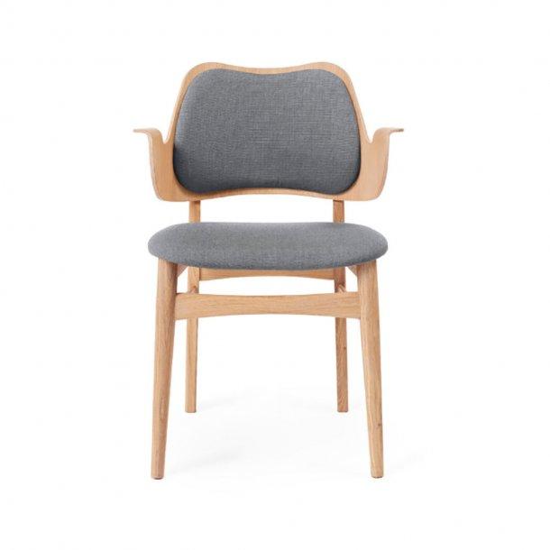 WARM NORDIC - Gesture Chair | Hvidolieret eg, fuldpolstret