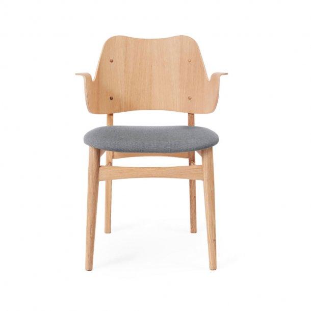WARM NORDIC - Gesture Chair   Hvidolieret eg, sædepolstret