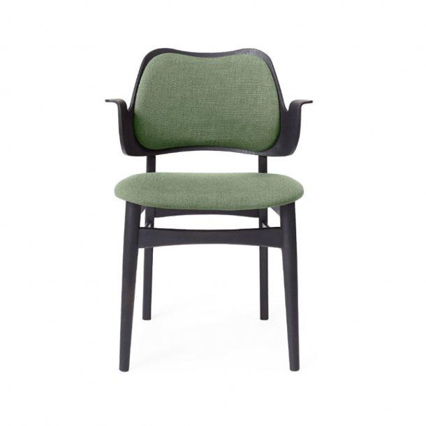 WARM NORDIC - Gesture Chair | Sortlakeret bøg, fuldpolstret