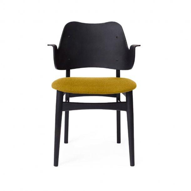 WARM NORDIC - Gesture Chair | Sortlakeret bøg, sædepolstret
