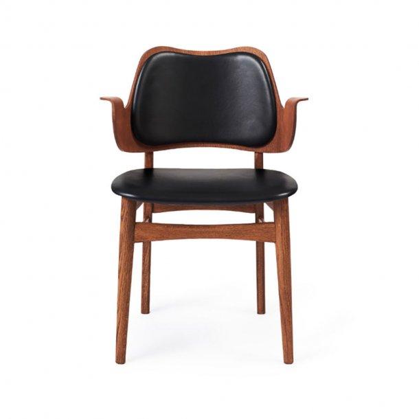 WARM NORDIC - Gesture Chair   Teakolieret eg, fuldpolstret
