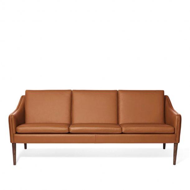 WARM NORDIC - Mr. Olsen 3 pers. sofa | Læder, røget eg