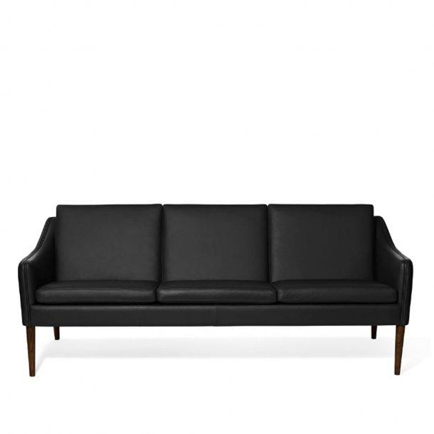 WARM NORDIC - Mr. Olsen 3 pers. sofa | Læder, valnødolieret eg
