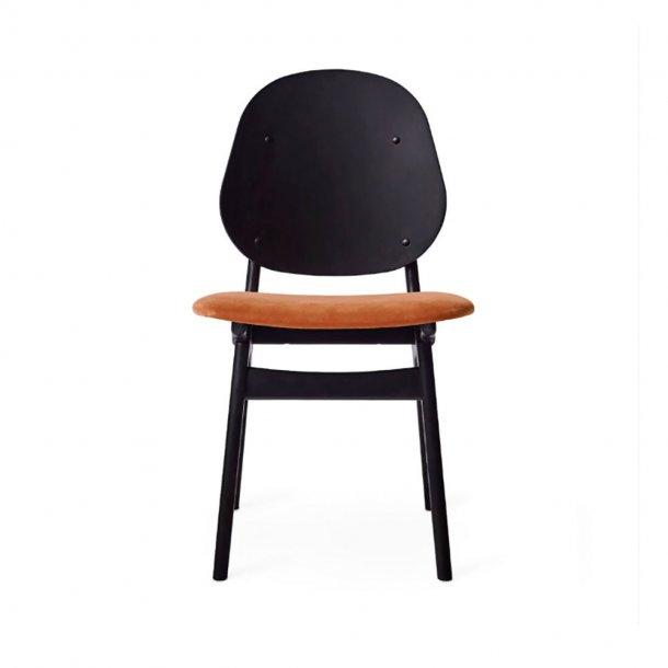 WARM NORDIC - Noble Chair | Sortlakeret bøg, sædepolstret