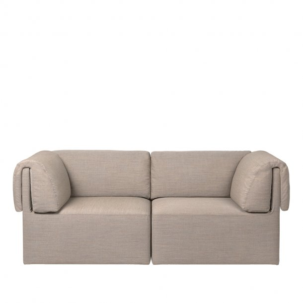 Gubi - Wonder Sofa | Fully Upholstered | 2 seater | With Armrest