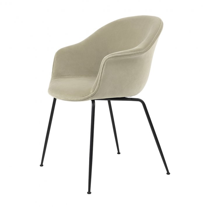 Gubi - Bat Dining Chair | Fully upholstered | Conic base