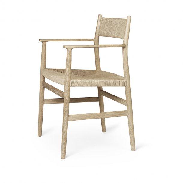 Brdr. Krüger - Arv Spisebordsstol | Med armlæn | Flettet ryg