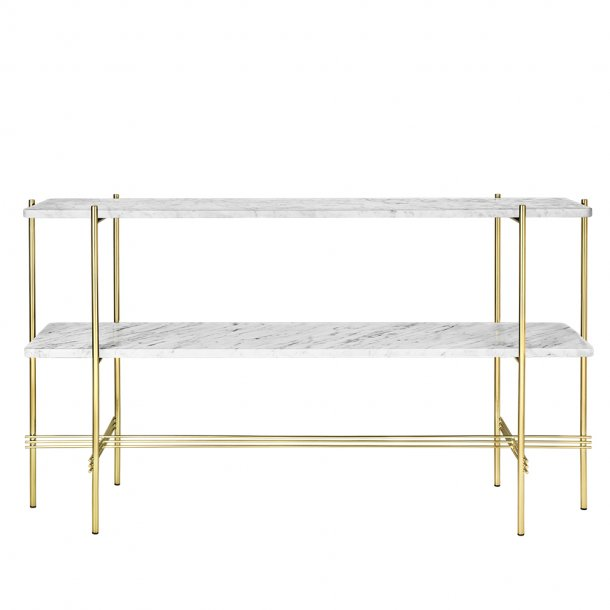 Gubi - TS Console | Brass Base | 2 Racks