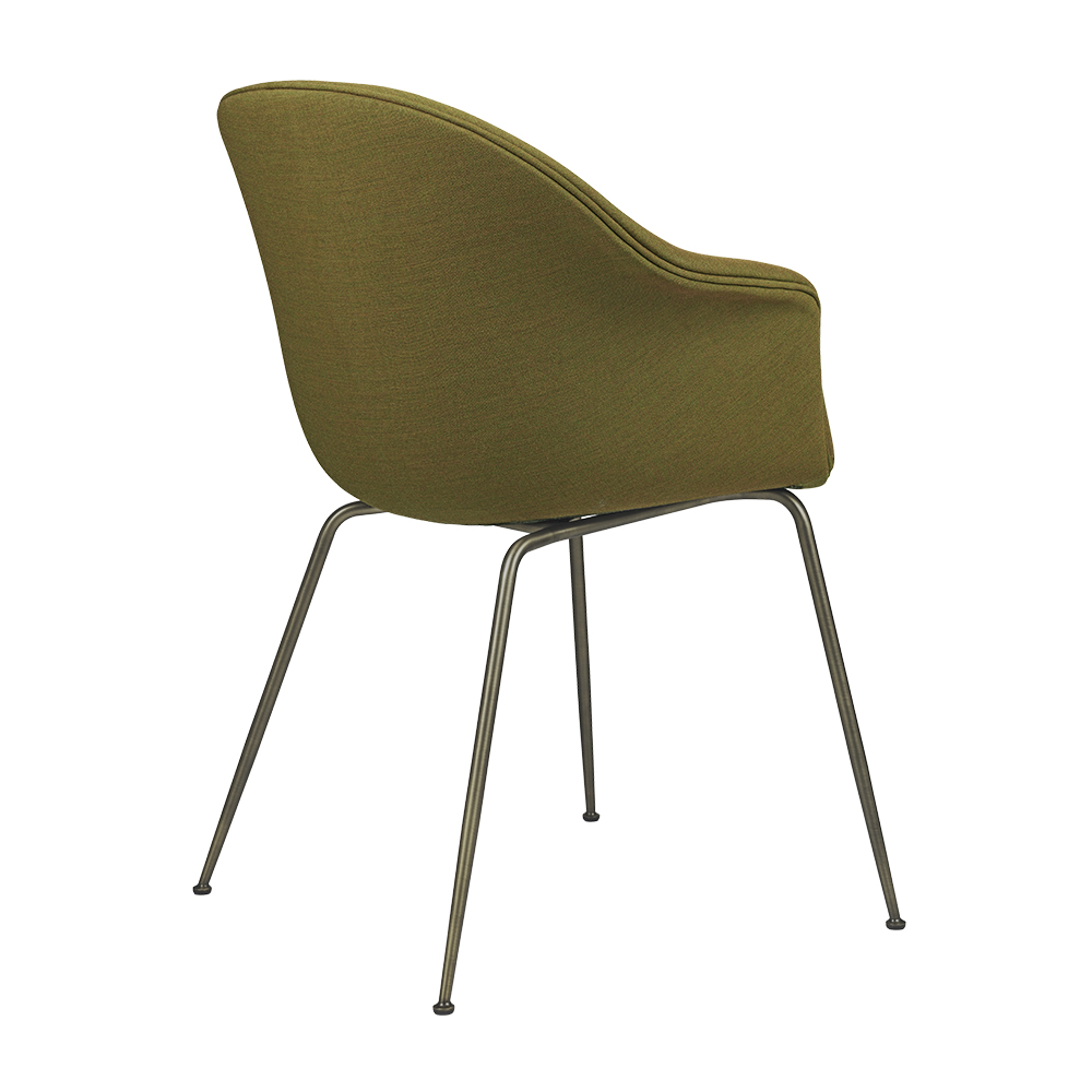 Gubi Bat Dining Chair | Fully upholstered | Conic base