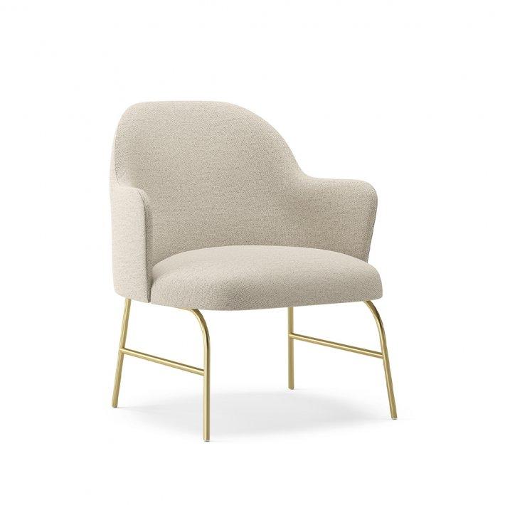 Viccarbe -  Aleta Lounge Chair | Metalben m. armlæn