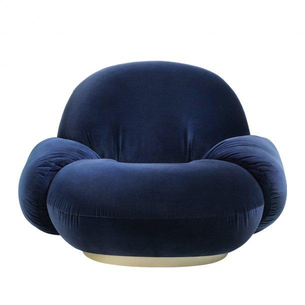 Gubi - Pacha Lounge Chair | With armrest | Returning swivel