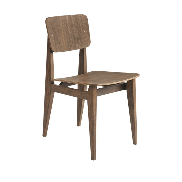 Gubi - C-Chair   Un-upholstered, Plywood