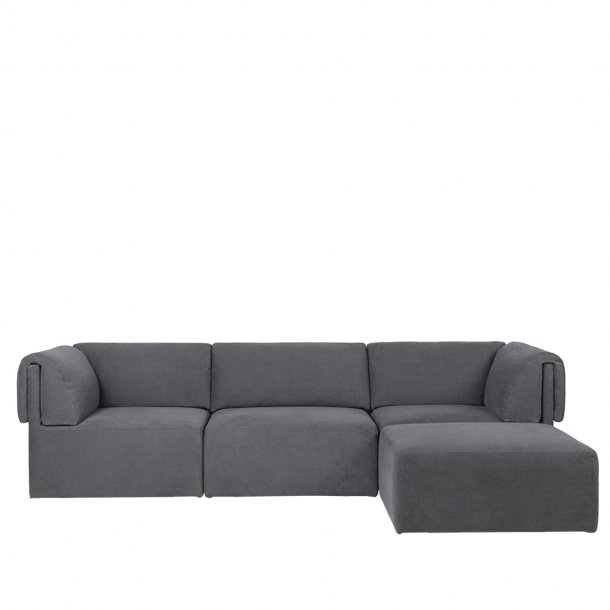 Gubi - Wonder Sofa | Fully Upholstered | 3 seater | With Chaise Lounge