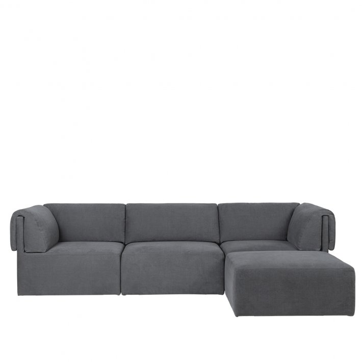 Gubi - Wonder Sofa   Fully Upholstered   3 seater   With Chaise Lounge
