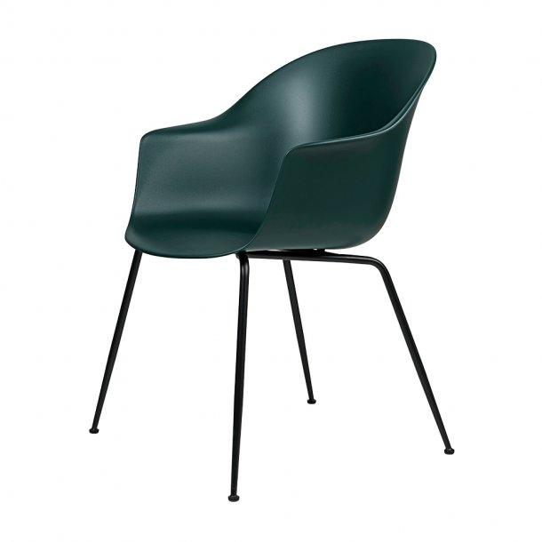 Gubi - Bat Dining Chair | Un-Upholstered | Conic, Black Matt Base