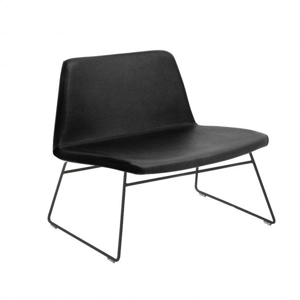 Paustian - Spinal Chair 80,  Sled base black | Læder