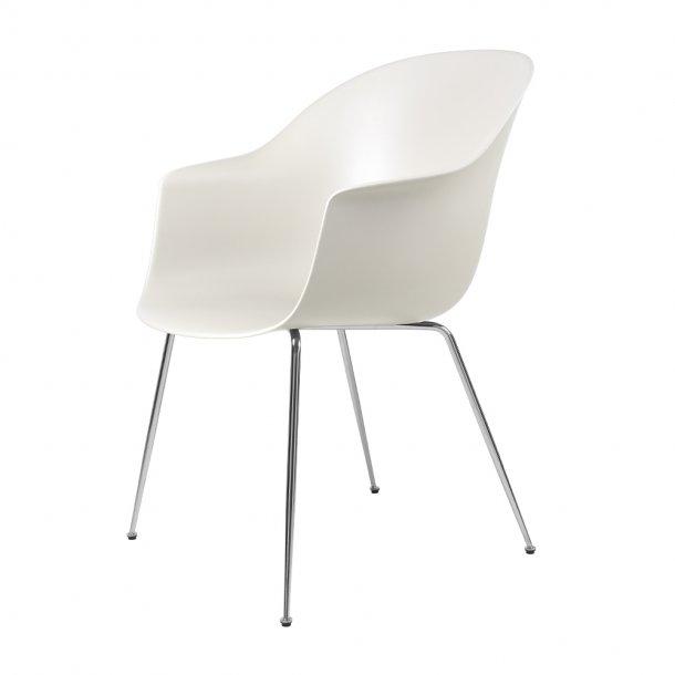 Gubi - Bat Dining Chair | Un-Upholstered | Conic, Chrome Base