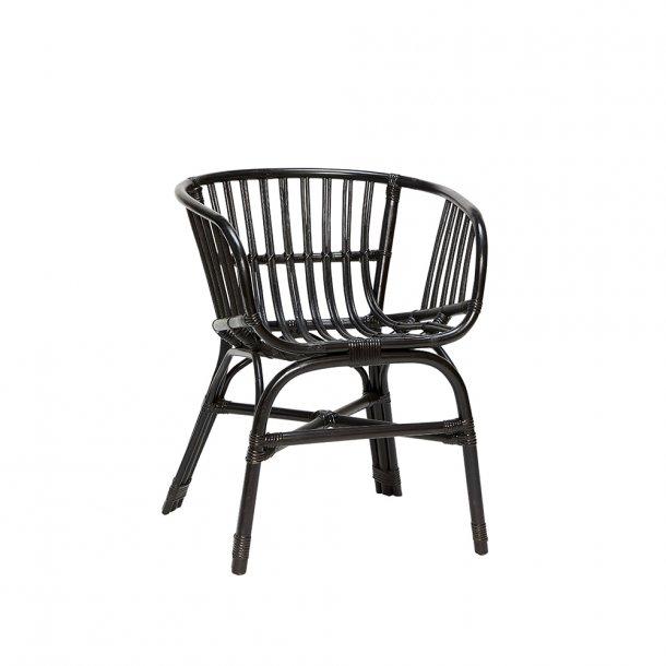 Hübsch - Rattan chair | Dining chair w. armrest