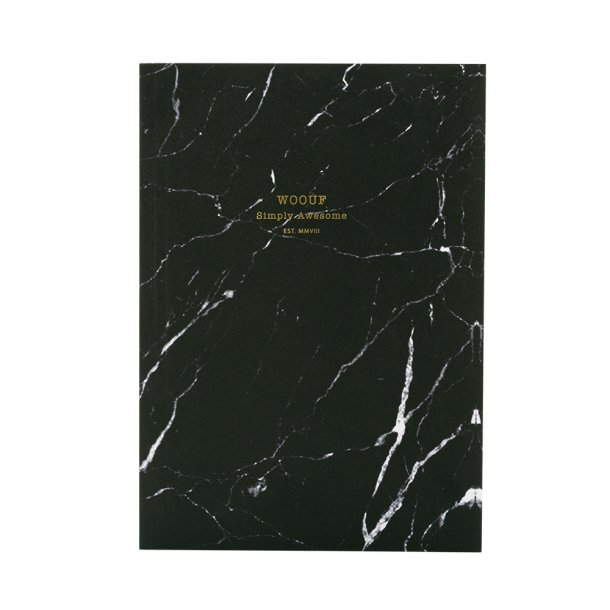 Wouf - Black Marble - Notebook A5