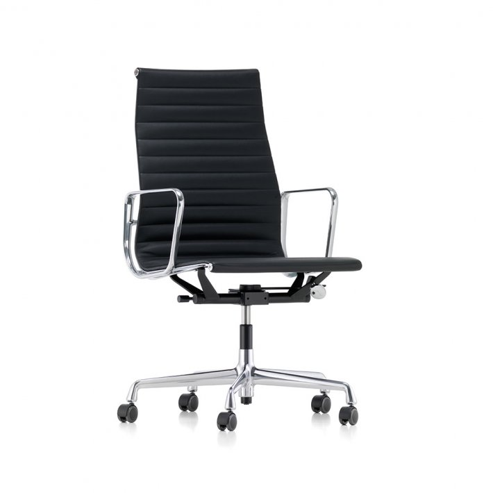 Vitra - Aluminium Chair EA 119 | Premium læder L40