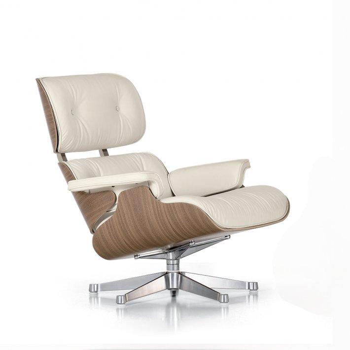 Eames Lounge Chair - Hvidpigmenteret valnød