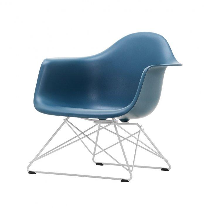Eames Plastic Armchair LAR - Pulverlakeret, hvid