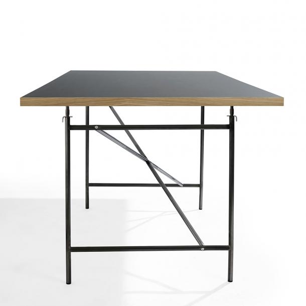Please wait to be seated  - Eiermann1 bord Blå linoleum Pulverlakeret sort 160x80 cm L110xB66xH66cm