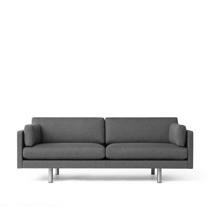 Erik Jørgensen - EJ 220-2L sofa | 2,5 pers., kromben, tekstil