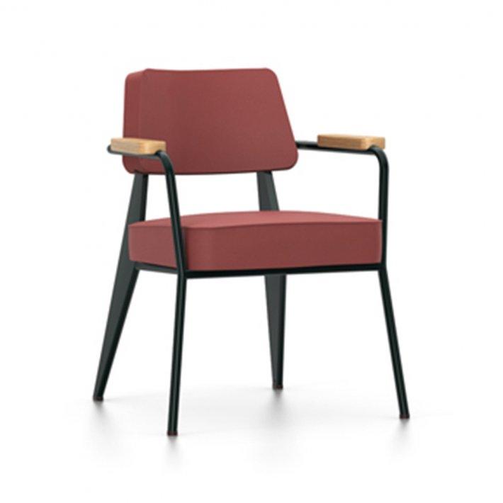 Vitra - Fauteuil Direction Chair | Tekstil, Eg, Deep black stel