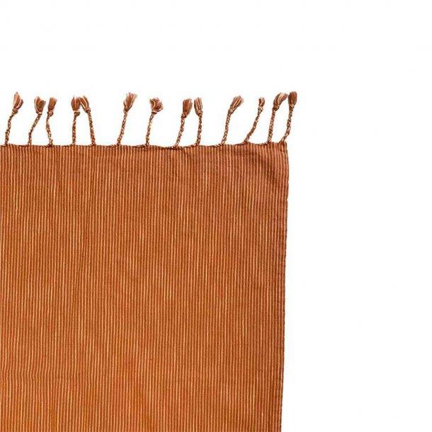 OYOY - Gobi sengetæppe stripe | Karamel / Råhvid