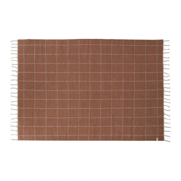 OYOY - Grid rug | Caramel/offwhite
