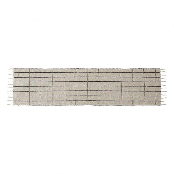 OYOY - Grid tæppe | Løber | Råhvid/Antracite