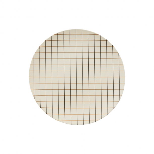 OYOY - Bamboo grid tray | small | Offwhite/Rubber
