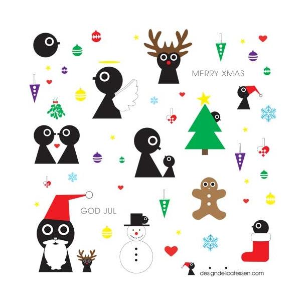 Designdelicatessen - klistermærker | Christmas