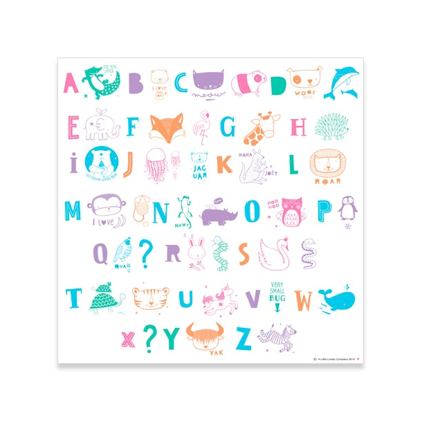 A Little Lovely Company - Light Box - Letter set - ABC pastel