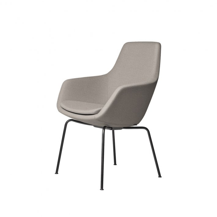 Fritz Hansen - LILLE GIRAF™ stol 3201   Tekstil, pulverlakeret stel