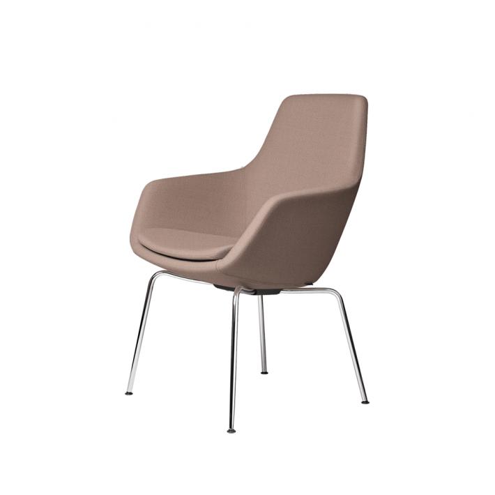 LILLE GIRAF™ stol 3201 - Tekstil, forkromet stel