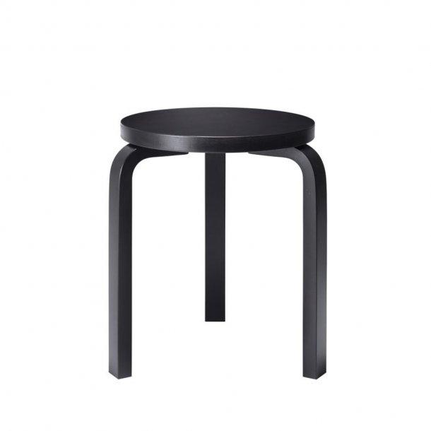 Artek - Stool 60   Legs black lacquered