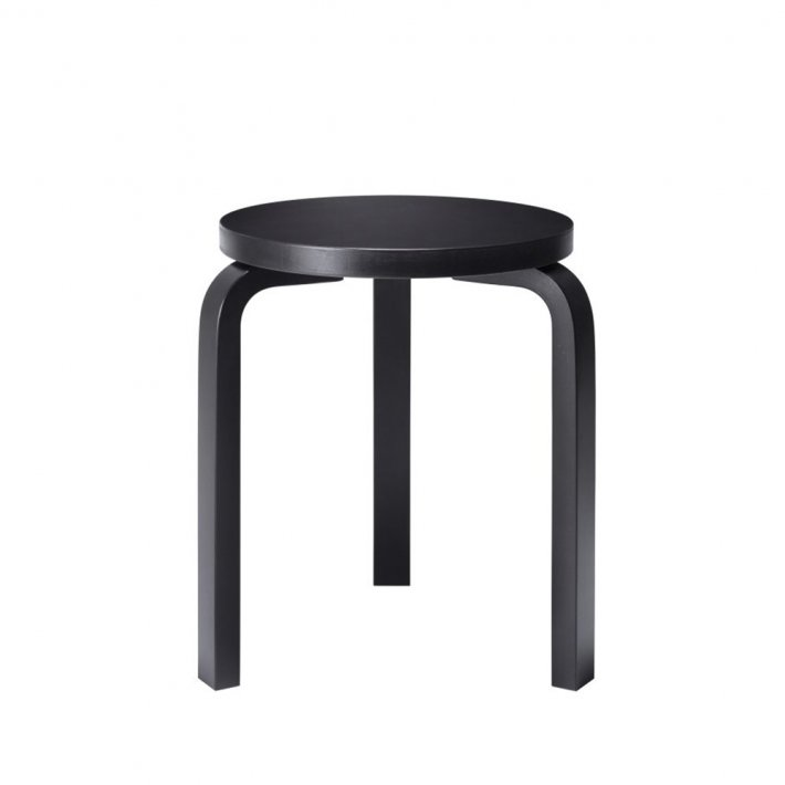 Artek - Stool 60 | Legs black lacquered