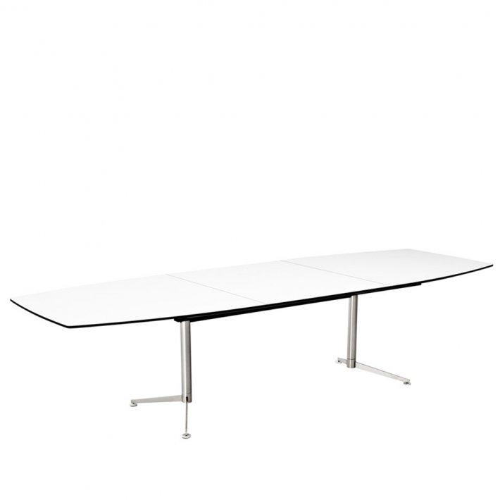Paustian - Spinal Table Boatshape m. udtræk | Small, Krom stel