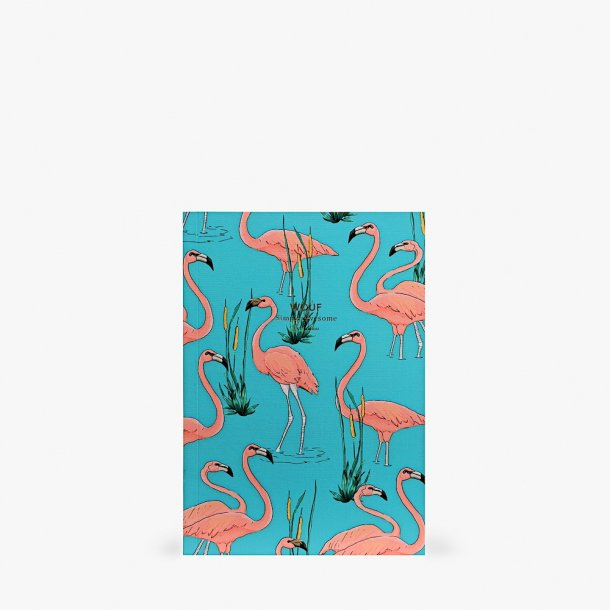 Wouf - Pink Flamingos Notebook A5