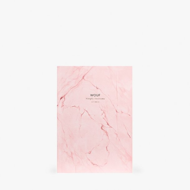 Wouf - Pink Marble Notebook A5