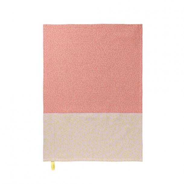 NOMESS - Splash Tea Towel - Pink/yellow - 2 stk