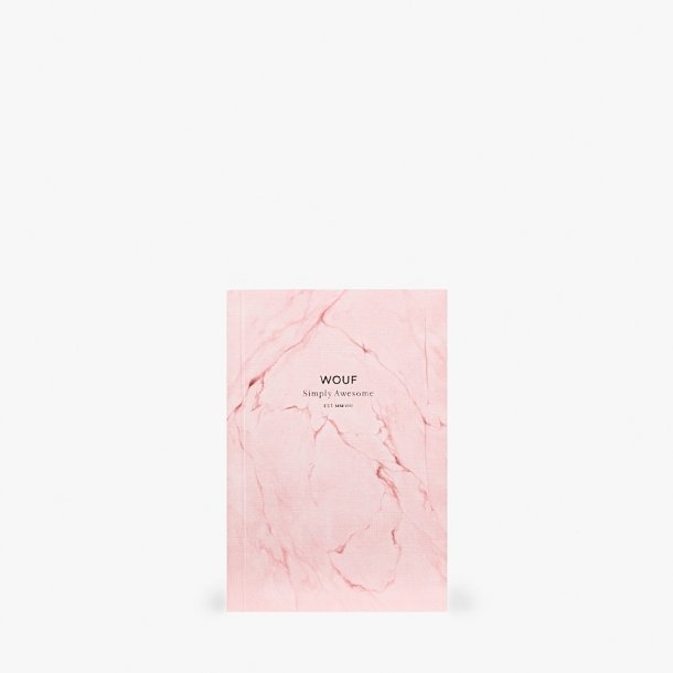 Wouf - Pink Marble Notebook A6