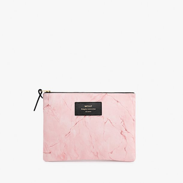 Wouf - Pink Marble - Pouch