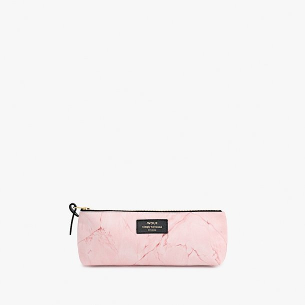 Wouf - Pink Marble - Pencil case