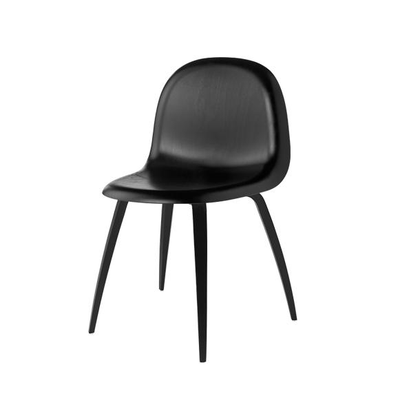 Gubi - 3D Dining Chair Wood Base - Sortbejdset bøg - Stol