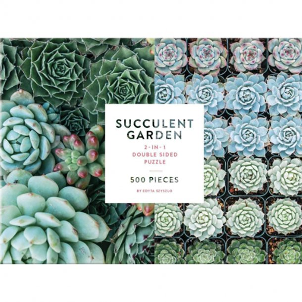 New Mags - Succulent Garden | 2 Sided 500 Piece Puslespil